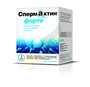 При покупке двух упаковок Спермактин forte - в подарок Менс формула Больше чем витамины, 15 шт.