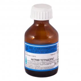 Натрия тетраборат раствор в глицерине 20%
