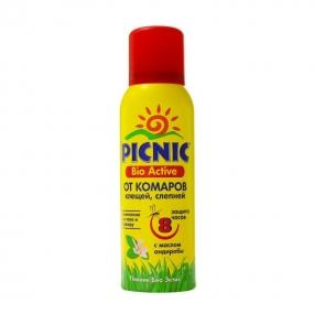 Аэрозоль Picnic Bio Active от комаров и клещей с маслом андиробы